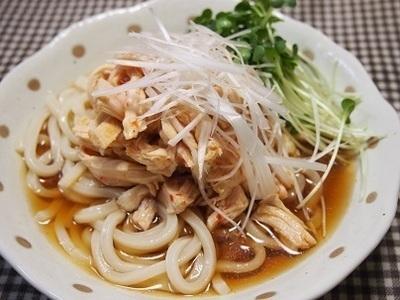 くらしのアンテナで掲載【「肉×麺」♡鶏むね肉のピリ辛冷やしうどん】【簡単・節約・ランチ】