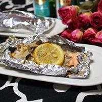 生鮭とマイタケのホイル焼き