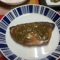 【晩ごはん】ブリのネギ味噌焼き、かき揚げ。