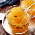 ふるふるグラスオレンジゼリー【#混ぜるだけ #計量不要 #5分で完成 #ふやかし不要 #子供と一緒に作れる #スイーツ】