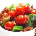 豚バラとプチトマトの黒コショウ焼き
