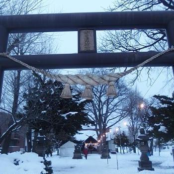 受験生にもおススメの札幌豊平区の中の島神社