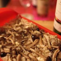 ルクエで米を炊く  / きのこチーズのみるくリゾット風