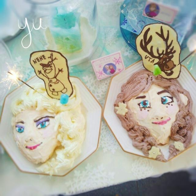アナとエルサのアイスケーキ