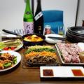 【家飲み】 母の日♡ 韓国料理と日本酒 * 七田 純米吟醸 雄町 無濾過生原酒 by こぶたさん
