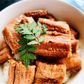 穴子丼、穴子ときゅうりの酢の物
