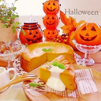 ノンオイル♪スイートかぼちゃポテトの豆腐ケーキ