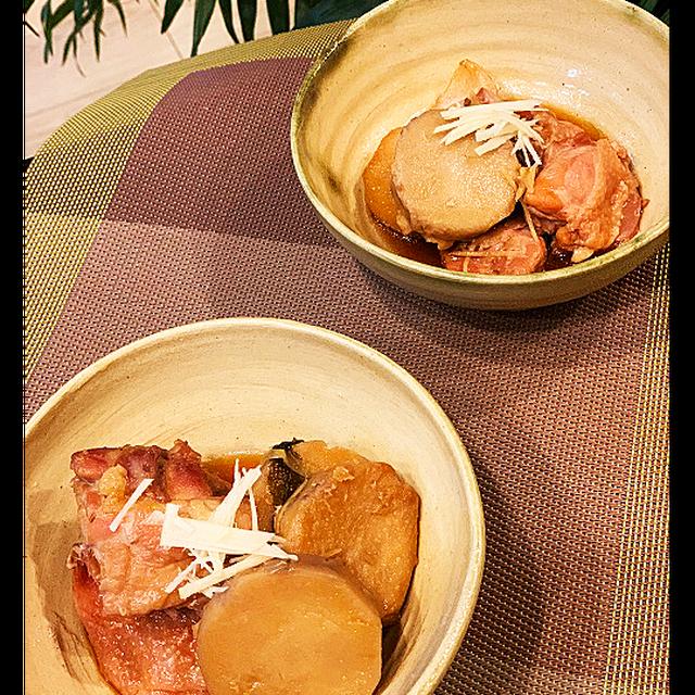 staub鍋でコトコト~生姜を利かせて鶏むね肉と里芋の煮物~レッスンはプリンケーキ
