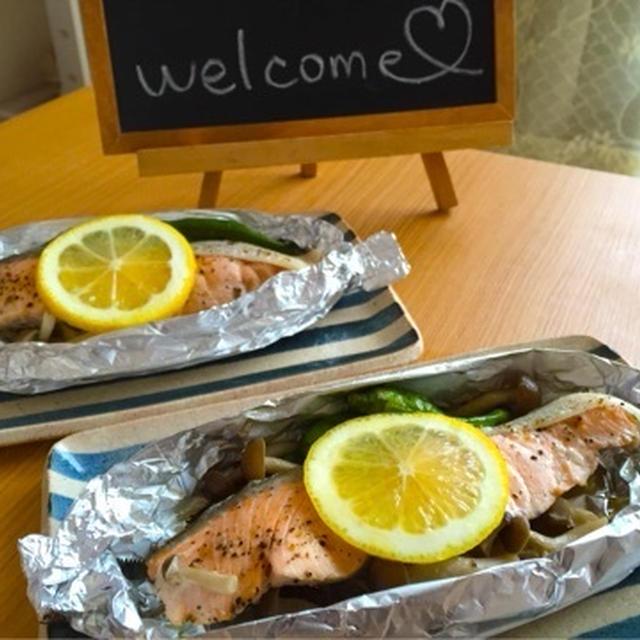 【簡単】【今が旬】10分で完成♡秋鮭ときのこのホイル焼き♡