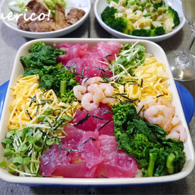 雛祭りに♪花畑みたいなちらし寿司