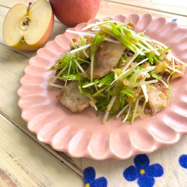 娘ちゃんの太鼓判❤︎便秘解消効果‼︎豚ロースのすりおろしりんごマリネ♡レシピ