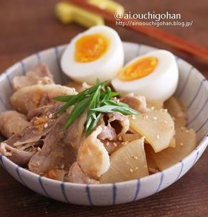 暑さ対策レシピ♡電子レンジで味しみしみ♡ごはんがもりもりすすむ!豚バラ味噌大根♡
