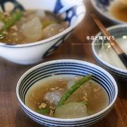 冬瓜のそぼろ煮と出汁卵
