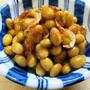 蒸し大豆のピリ辛炒め
