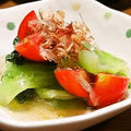 oilすっきり青梗菜とトマトのおひたし&キャベツメンチ