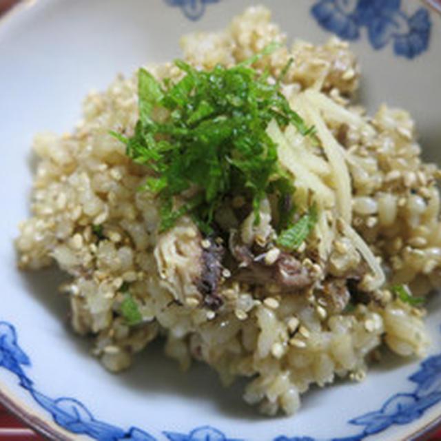 サンマ玄米ご飯