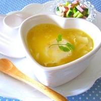 鍋不要!レンジ5分でほっこり温まる「具入りスープ」レシピ5選