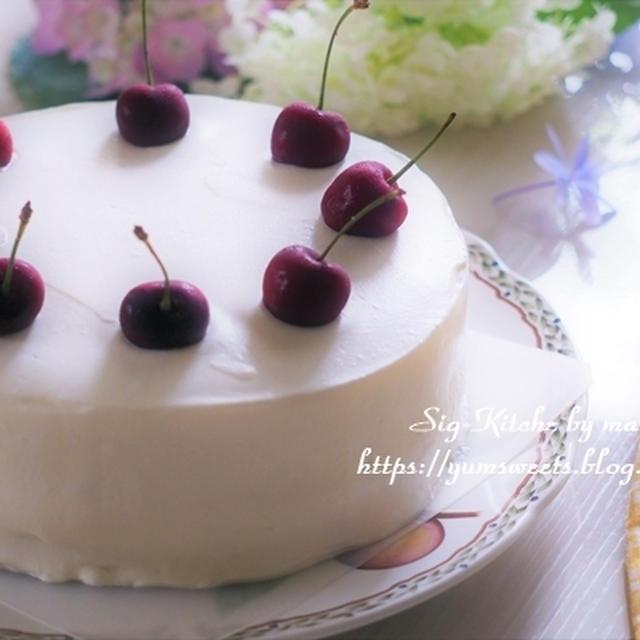 動画『可愛いバースデーケーキの作り方・イチゴのない季節の誕生日』 【レシピ】