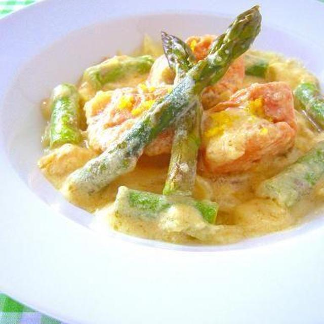 塩鮭とアスパラのレモンクリーム煮 & レシピブログにてインタビュー公開中!