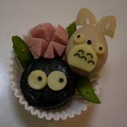 【キャラ弁】うずらトトロの作り方&そぼろふりかけ弁当