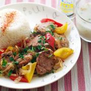 レモンペパーのオリエンタル肉野菜炒め