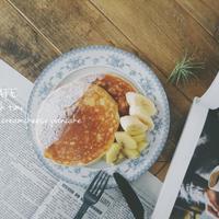 【うちカフェ】アーラクリームチーズで簡単♪クリームチーズパンケーキでランチタイム