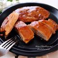 豚薄切りロース肉で甘辛ミルフィーユステーキ