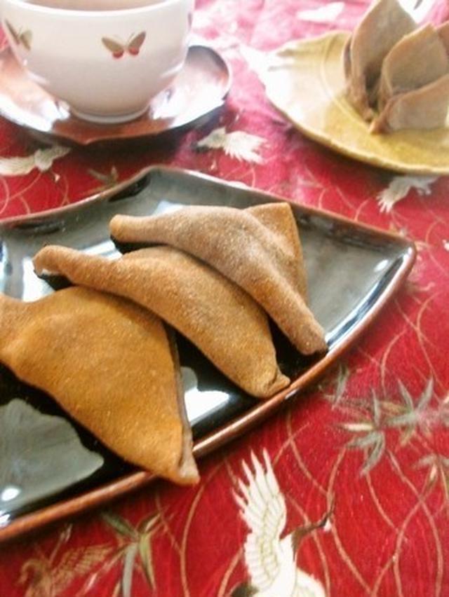 だんご粉と麦こがしの八ツ橋風和菓子