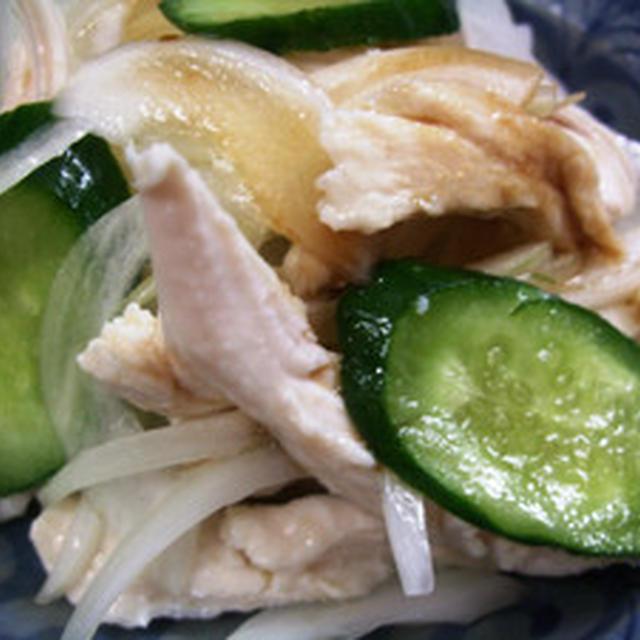 鶏胸肉と新玉ねぎのサラダ