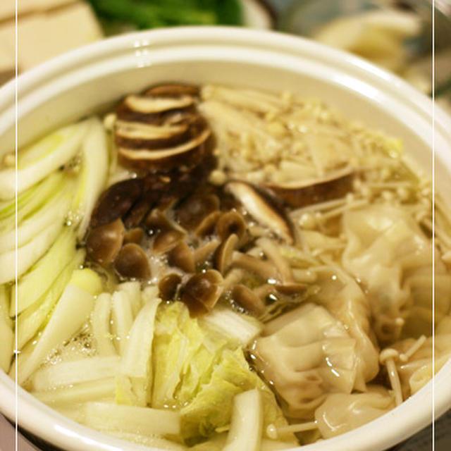 手作り餃子鍋と日曜日★