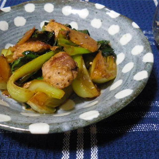 青梗菜と豚肉の五香粉炒め