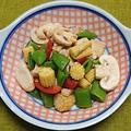 鶏むね肉と野菜のバルサミコ酢風味サラダ