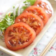 トマトの和風ドレッシングマリネ