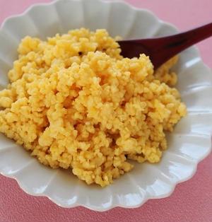 しっとり卵そぼろの作り方 & きょうのお弁当