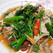 からし菜と豚肉のタイ風炒め