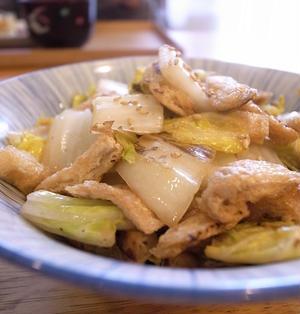 油揚げカリカリ炒めがポイント。簡単でウマイ、白菜油揚げ炒め|お墓参りと氏神様参拝