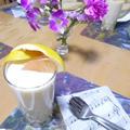 食べ過ぎた翌朝の!グレープフルーツ豆乳スムージーで♪朝ご飯★