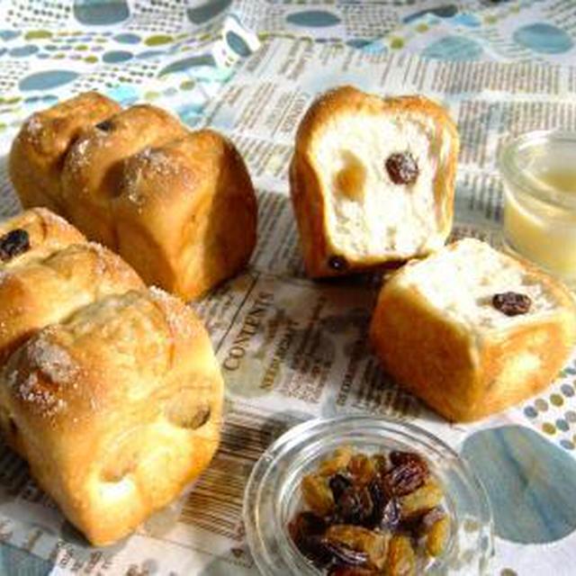 レーズンミニ食パン♪バターシュガートップ