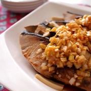 ぶりとエリンギの甘酢ネギソースがけ&海苔佃煮チーズチキンロールのレシピ