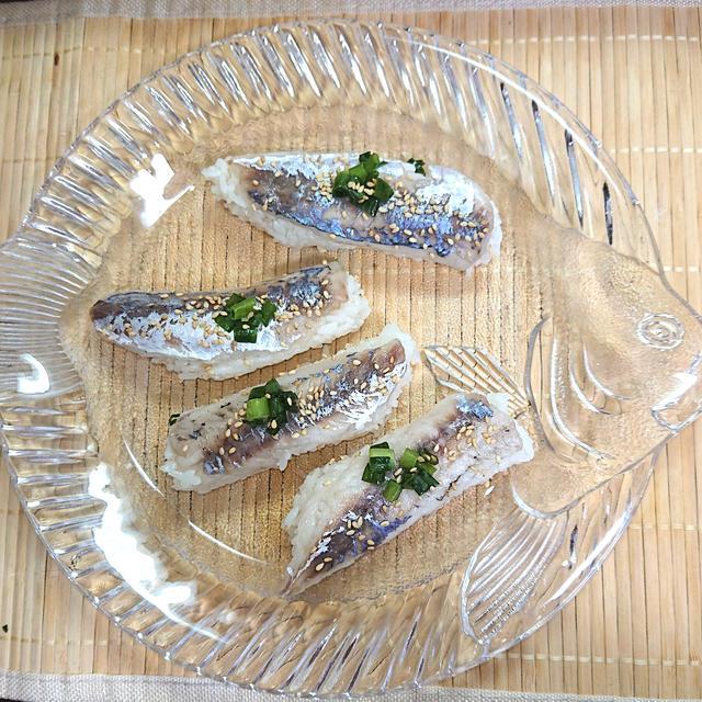 釣った魚で、さっぱりすっきり豆あじの押し寿司