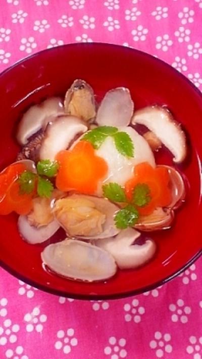 春をよぶ☆ふわふわ砂丘長芋だんごの蛤汁