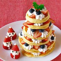 クリスマスツリーパンケーキの作り方 (動画レシピ)