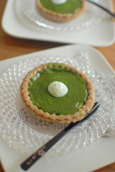 コンビニスイーツから抹茶黒糖チーズタルト Tarte with Green Tea