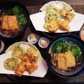 年越し蕎麦にお好きに天ぷらを~Happy~♪♪♪♪