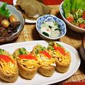 飾り稲荷寿司と女性にお勧め<鶏レバーのソース煮> by らるむ。さん