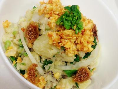 レシピ☆旬の菜の花とゴマがベストマッチ!【菜の花の和風ポテトサラダ】