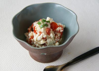 豆腐とトマトの塩麹和え