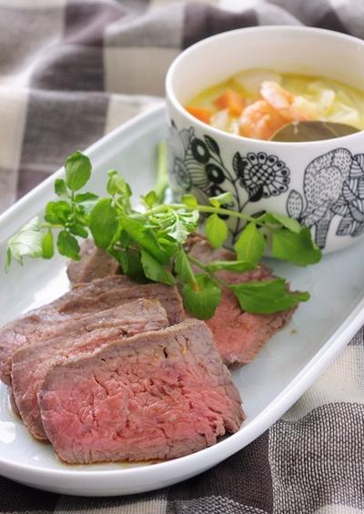 お鍋1つで!ローストビーフ&エビと野菜のミルクカレースープ