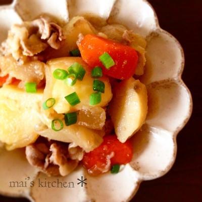ピリッと柚子胡椒の肉じゃが♡簡単レシピ