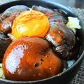 レンジで煮物!?椎茸の煮物風卵かけご飯